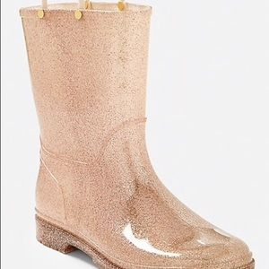 Girl's Justice Blush Color Rain Boots Size 4